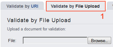 Избор на метода Validate by File Upload